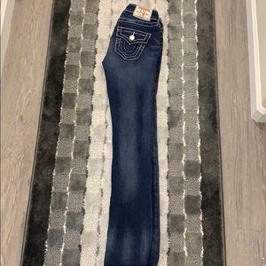 True Religion slim straight jeans 25